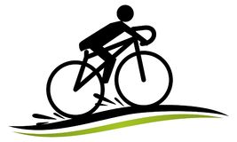 Stylized Bike Race Template vector illustration