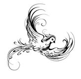 Stylized bird Royalty Free Stock Photo