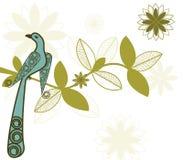 Stylized bird on branch Royalty Free Stock Image