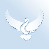 Stylized bird or dove Stock Images