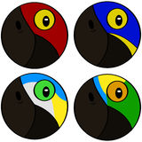 Stylized bird heads Stock Images