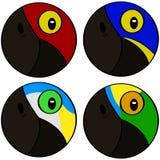 Stylized bird heads Stock Images