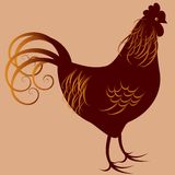 Stylized bird - Rooster Stock Images