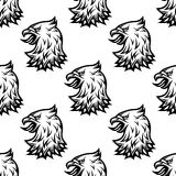 Stylized black eagle seamless pattern Royalty Free Stock Images