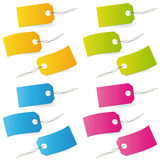 Stylized blank labels Royalty Free Stock Images