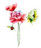Stylized blommor Royaltyfri Foto