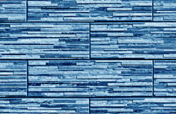 Stylized blue brick wall texture. Abstract background and textutre for design Stock Photography