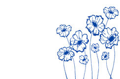 Stylized blue flowers. On an white background royalty free illustration