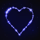 Stylized blue iregular heart in style of star constellation Stock Photo