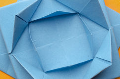 Stylized blue paper flower Stock Image