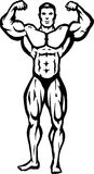 Stylized bodybuilder Stock Images