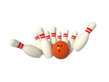 Stylized bowling isolated Stock Images