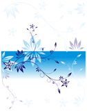 Stylized branch in blue Stock Photos