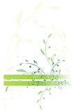 Stylized branch of green color. Figure in the form of the stylized branch of several shades of green color on a white background. It can be used in the form of a Stock Photos