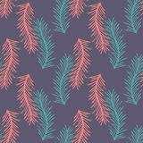 Stylized branch. Seamless vector background. For design Stock Image