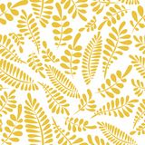 Stylized branches on a white background. Seamless pattern Royalty Free Stock Photos