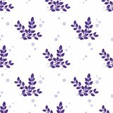 Stylized branches on a white background. Seamless vector pattern Royalty Free Stock Image