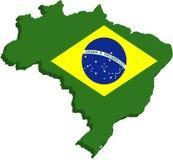 stylized brasil flagga Arkivfoto