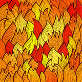 Stylized bright fire background Stock Photography