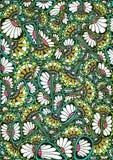 Stylized bright natural pattern Royalty Free Stock Photo