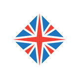 Stylized British flag. Vector icon or design element. Royalty Free Stock Photo
