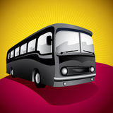 Stylized bus illustration. Royalty Free Stock Image