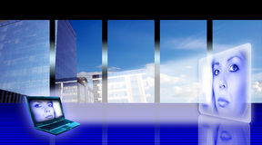 Stylized business office stock illustration