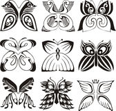 Stylized butterflies Royalty Free Stock Photography