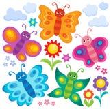 Stylized butterflies theme set 1. Eps10 vector illustration Royalty Free Stock Photo