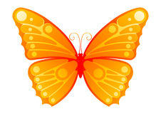 Sunny Butterfly. Vector image of artistic representation of a butterfly royalty free illustration