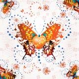 Stylized butterfly Stock Photos
