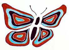 Stylized butterfly Royalty Free Stock Image