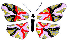 Stylized butterfly Royalty Free Stock Images