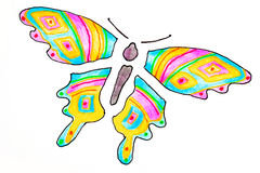 Stylized butterfly Stock Images
