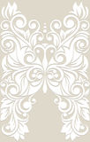 Stylized butterfly with floral ornament. Wedding background.Card Royalty Free Stock Images