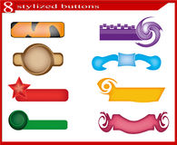 Stylized Buttons Royalty Free Stock Images