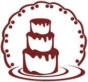 Stylized cake. Image representing a stylized cake usable as logo, label or other project about cakes Royalty Free Stock Photos