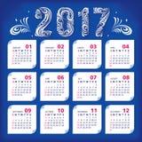 2017 stylized calendar. Vector illustration, eps 10 Vector Illustration