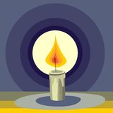 Stylized candle Stock Photography