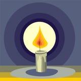 Stylized candle. Illustration of stylized burning candle Stock Photography