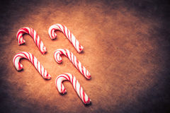 Stylized Candy Canes Stock Image