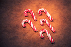 Stylized Candy Canes Stock Photography