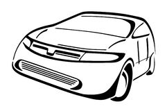 Stylized car. Cartoon illustration of a car Stock Photography