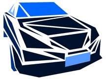 Stylized car in blue tones  Stock Images