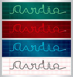 Stylized cardiogram lettering set Stock Photography