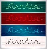 Stylized cardiogram lettering set Stock Photography