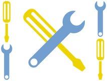 Stylized Cartoon Tool Backgrou. A set of stylized, cartoon tools Royalty Free Stock Images