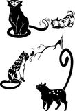 Stylized Cats - elegance and graceful cats. Stock Images