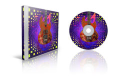 Stylized CD Cover Stock Photo