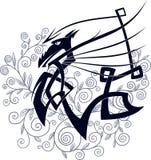 Stylized Celtic Dragon Royalty Free Stock Image
